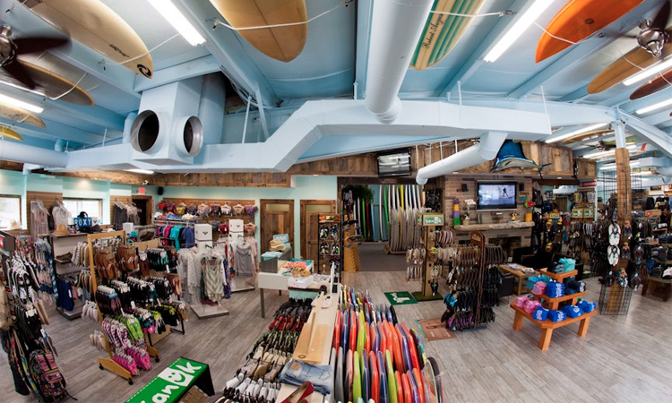 Inside Liquid Dreams Surf Shop